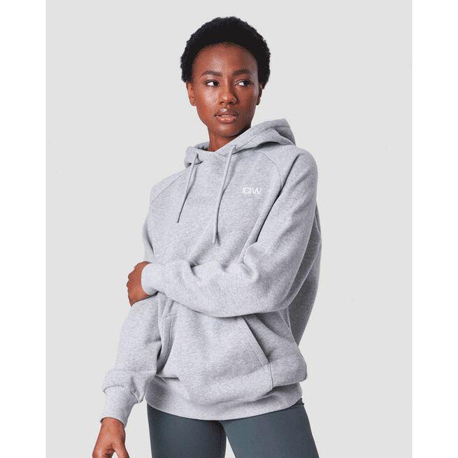 Essential Hoodie, Light Grey Melange, L