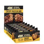 10 x Optimum Protein Crisp Bar, 65 g, Peanut Butter