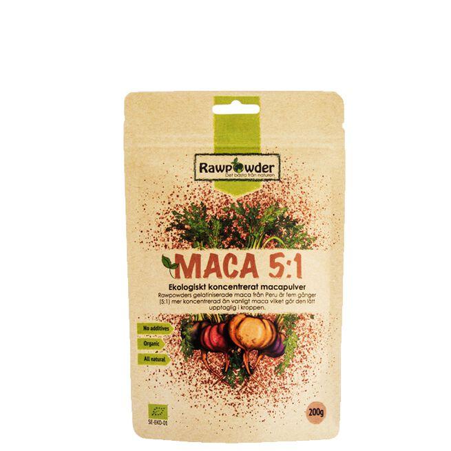 Maca, Ekologiskt koncentrerat Macapulver, 200 g