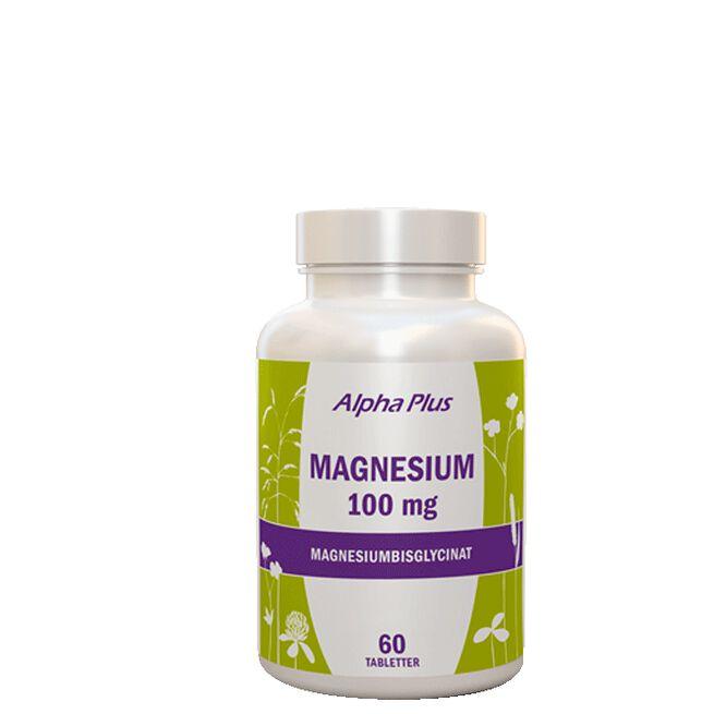 Magnesium 100 mg, 60 tab Alpha Plus