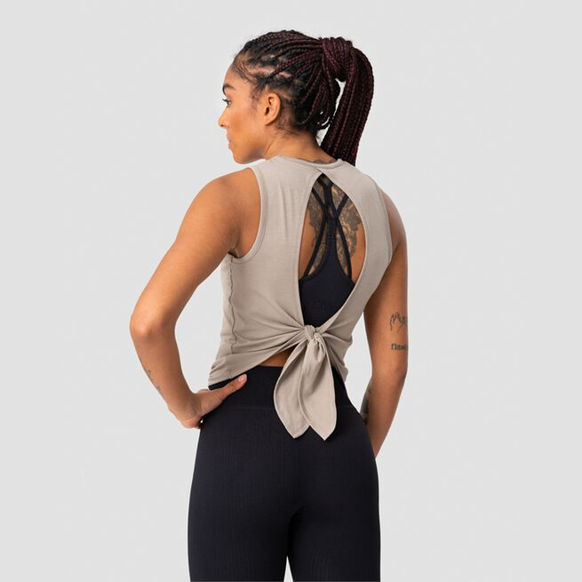 ICANIWILL Empowering Open Back Tank, Greige
