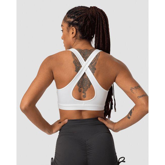 Scrunch Sports Bra, White, S