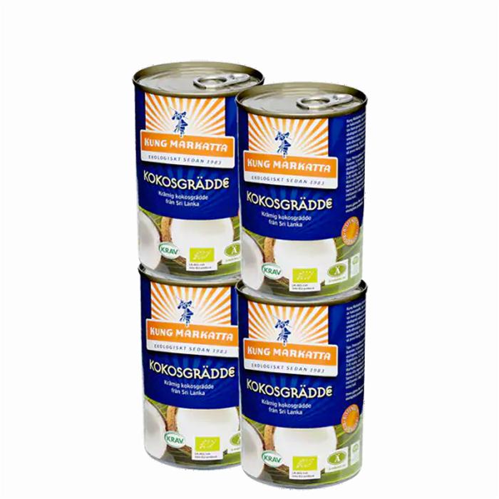 4 x Kokosgrädde, 400 ml