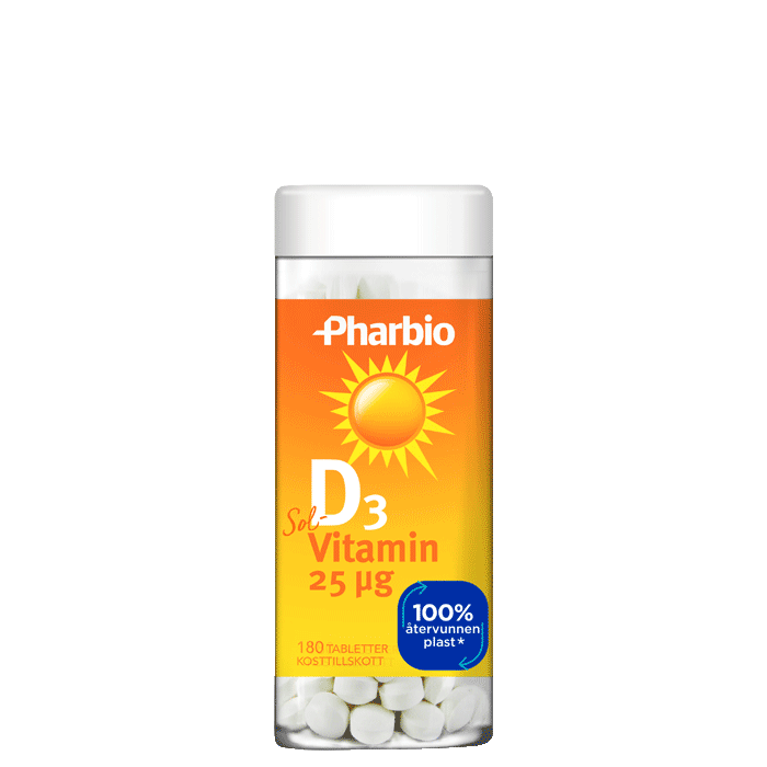 D3-vitamin, 180 tabletter