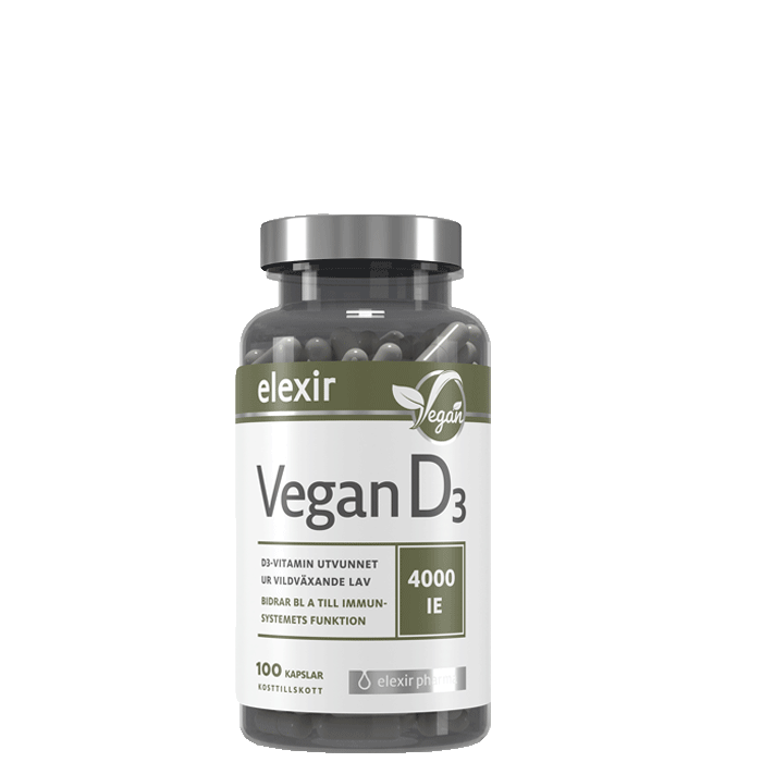 D3-vitamin Vegan, 100 kapslar