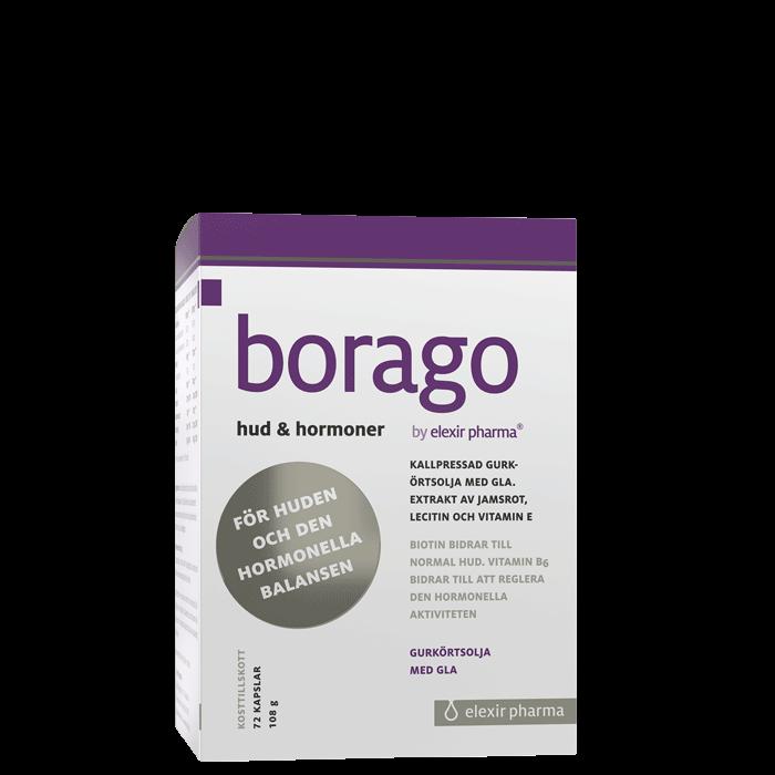 Borago Hud & Hormoner, 72 kapslar