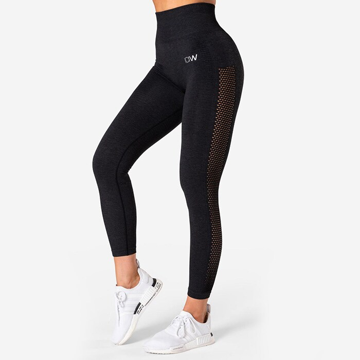 Dynamic Seamless 7/8 Tights, Graphite Melange