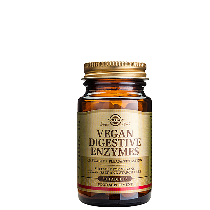 Vegan Digestive Enzymes, 50 tabletter