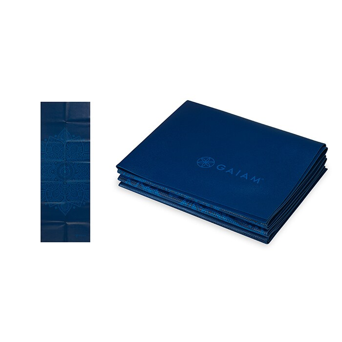 Foldable Blue Sundial Yoga Mat