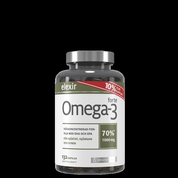 Omega-3 forte 1000 mg, 132 kapslar