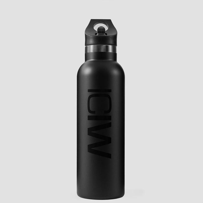 Stainless Steel Water Bottle 600 ml, Black
