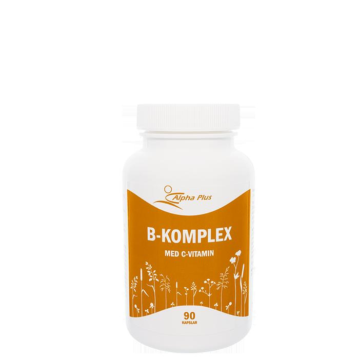 B-Komplex med C-vitamin, 90 kapslar