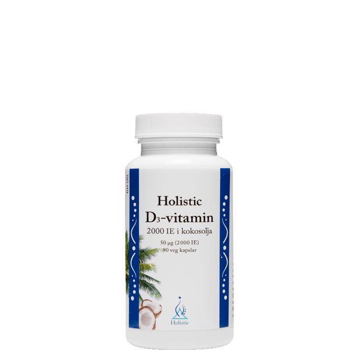 D3-vitamin, 2000 IE, 90 kapslar i kokosolja