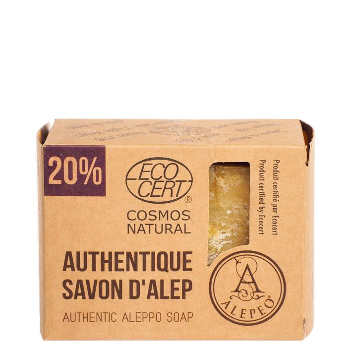 Aleppotvål 20% Lagerbärsolja, 200 g