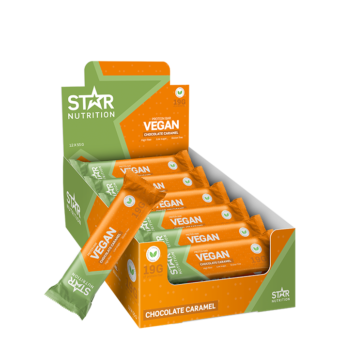 12 x Star Nutrition Vegan Protein bar, 55 g