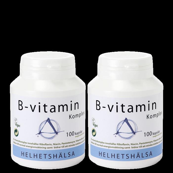 2 x B-vitamin Komplex, 100 kapslar