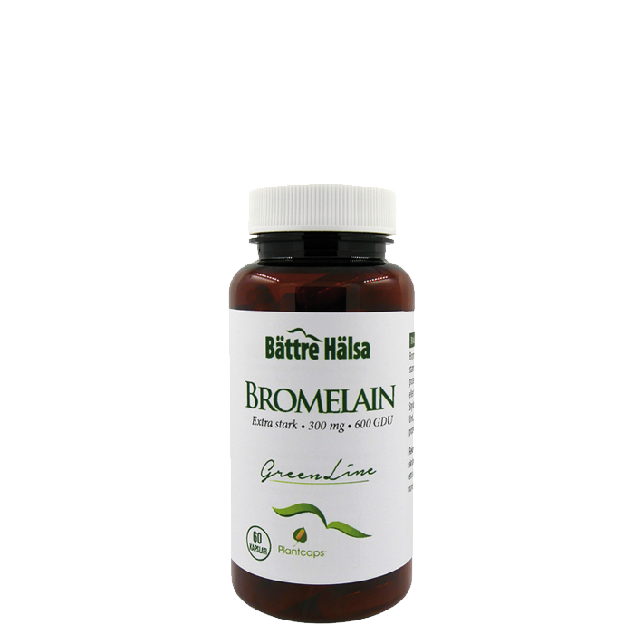 Bromelain 300 mg, 60 kapslar
