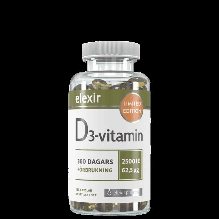 D3 Vitamin 2500IE, 360 kapslar - Limited Edition