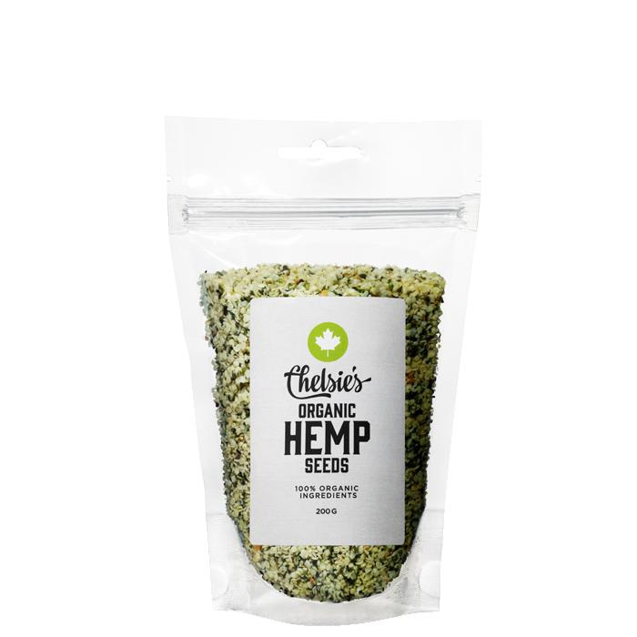 Chelsie's Organic Hemp Seeds, 200 g
