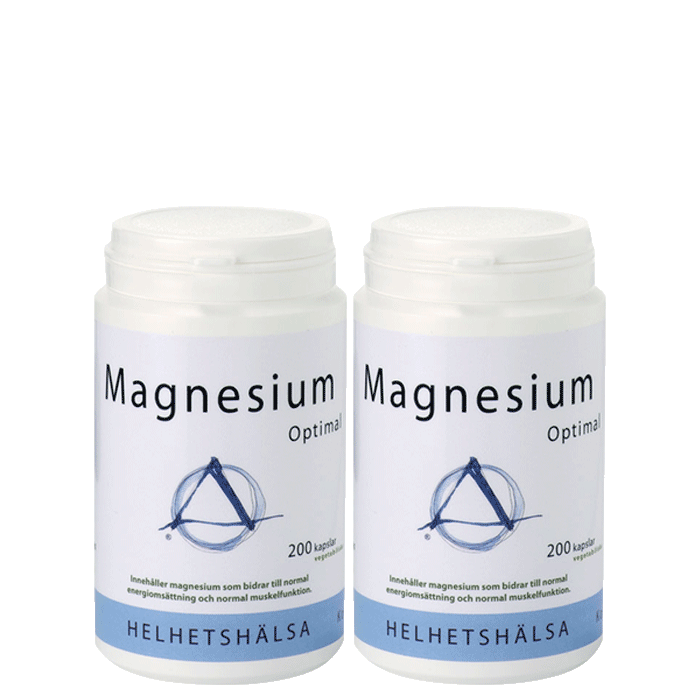 2 x Magnesium Optimal, 200 kapslar