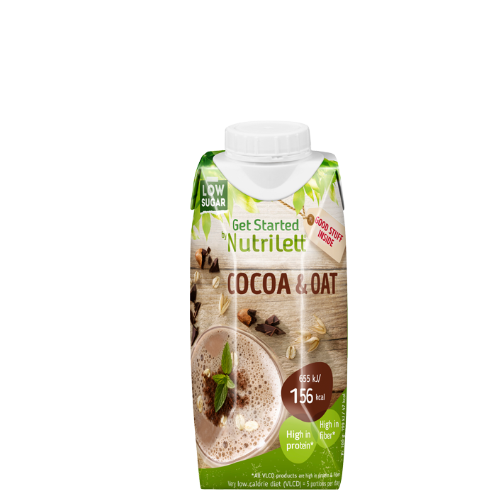 Nutrilett VLCD Smoothie Cacao Oat, 330 ml