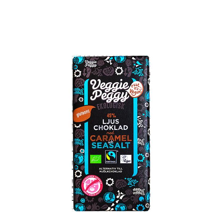 Veggie Peggy Choklad Karamell & Havssalt, 85 g