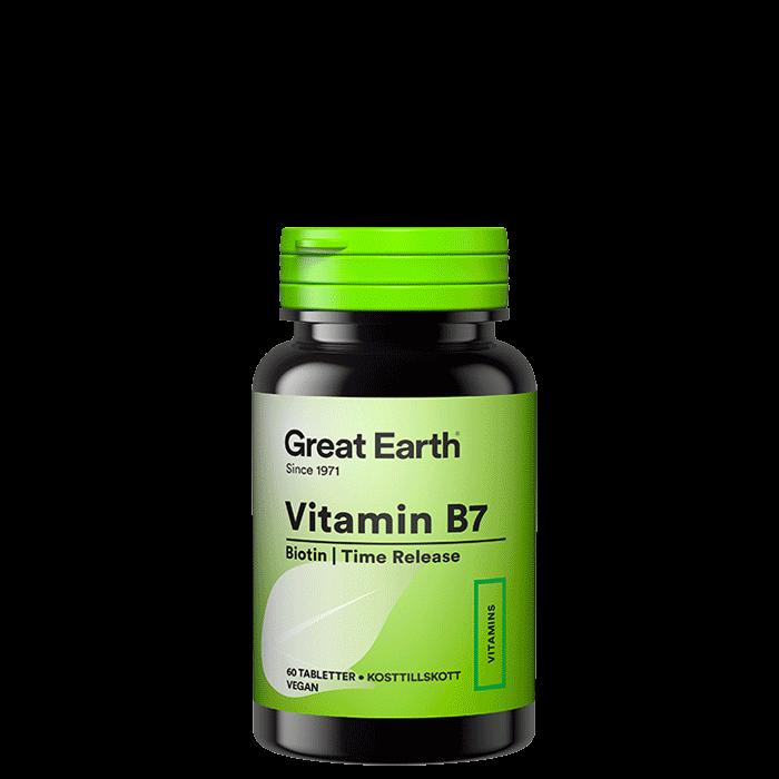 Vitamin B7/Biotin, 60 tabletter
