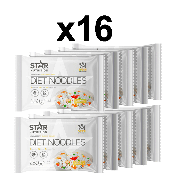 16 x Diet Noodles, 250 g, BIG BUY