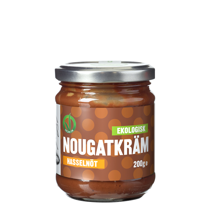 Ekologisk Nougatkräm Hasselnöt, 200 g