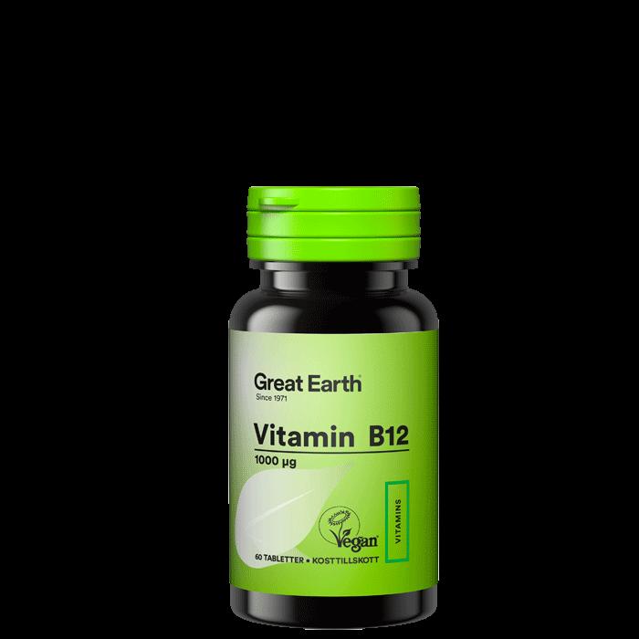 Vitamin B12 1000 mcg, 60 tabletter