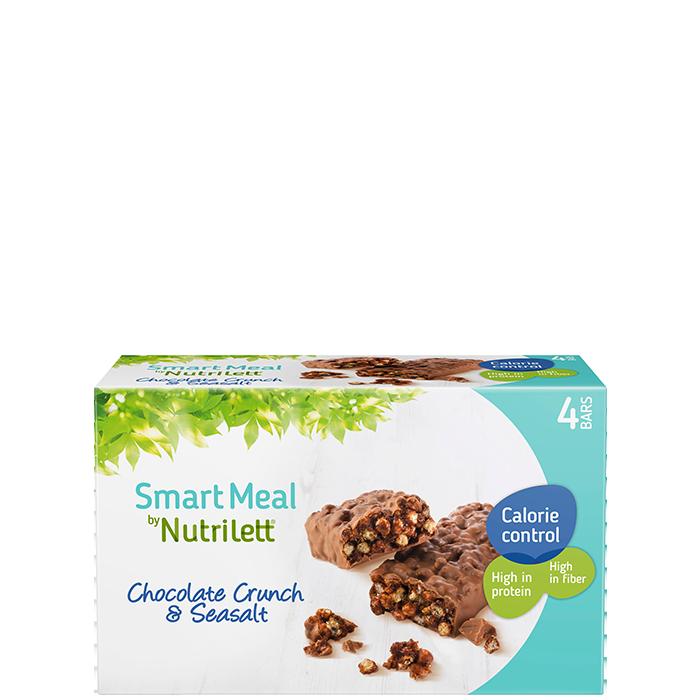 Nutrilett Chocolate Crunch Sea Salt bar 60 g, 4-pack