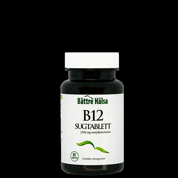 B12 Sugtablett, 60 tabletter